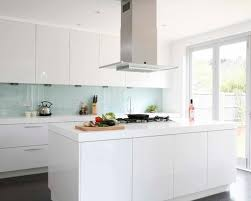 White Kitchen Brick Tiles - kitchen pretty kitchen white glass backsplash cabinets blue