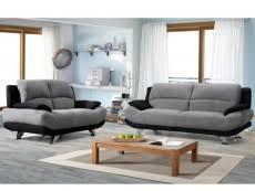 canapé 2 et 3 places canape 3 2 places pas cher achat de canape cuir tissu