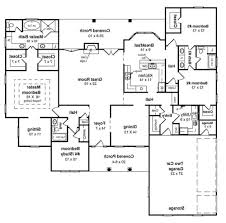 ranch house floor plans with basement astounding design ranch