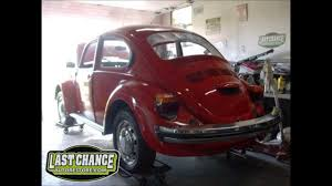 volkswagen old red classic vw beetle bug restoration 1974 sedan by last chance auto