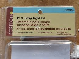 chain swag light kit industrial fan swag ls beckwith s treasures