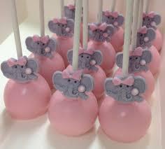 pink elephant baby shower cake