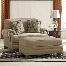 accent chair with ottoman ashley keereel fabric accent chair and a half with ottoman in sand