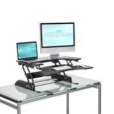 varidesk pro plus 36 dual monitor desk from posturite