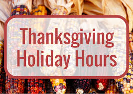 thanksgiving hours and exercise schedule coastal