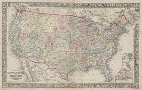 Atlas Map Of The United States by File 1864 Mitchell Map Of The United States Geographicus