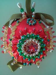 141 best beaded ornaments images on beaded