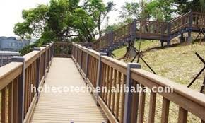 well design wpc bridge handrail waterproof bridge railing wood