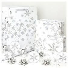 silver christmas wrapping paper buy glitter snowflake christmas wrapping paper tags and