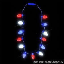 20 led light up bulb necklace white blue dozen