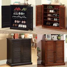 5 shelf wooden shoe cabinet with doors http advice tips com