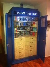 Dr Who Tardis Bookshelf Tardis Dvd Storage Ideas For Doctor Who Fans