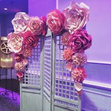 wedding arches ottawa paper flowers backdrop paper flowers wall paper flower
