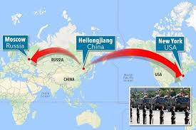 map russia to usa china set to place nukes on its border with russia as chilling