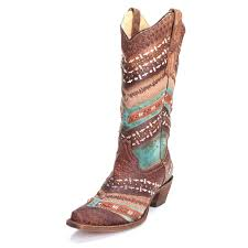 womens cowboy boots corral womens embroidered studs pointed toe cowboy boots turquoise