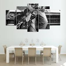 popular guitar wall picture black white buy cheap guitar wall modular pictures home wall art frame modern poster hd printed 5 pieces canvas art guitar car