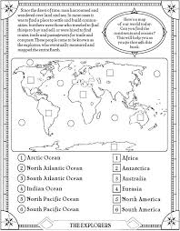 continents map worksheet worksheets