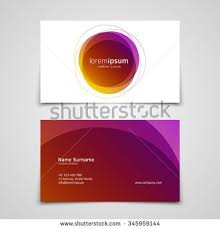 Abstract Business Cards Vector Abstract Business Card Design Template Stock Vector