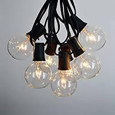 Amazon Outdoor Lighting Amazon Com 100 Foot G50 Outdoor Lighting Patio Party Globe String