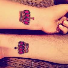 tattoo of queen and king king and queen tattoos for wrist