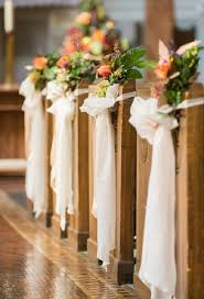 Wedding Pew Bows Creative Church Wedding Decorations Easyday