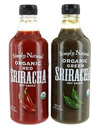 organic hot sauce combo simply organic and green sriracha hot sauce 16
