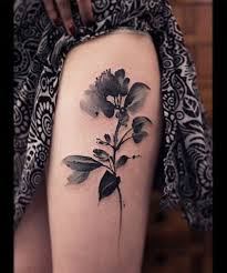 best 25 black flower tattoos ideas on ideas