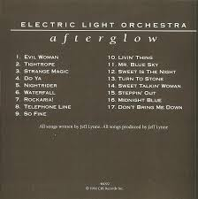 Evil Woman Electric Light Orchestra Cd Album Electric Light Orchestra Afterglow Epic Associated