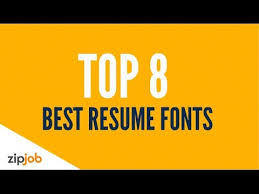 Best Font For A Resume by Resume Font Does The Typeface Of A Resume Impact Our Perception
