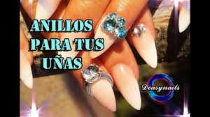how to put rings on your nails with acrylic tutorial acrylic