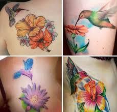 37 best hummingbird and flower tattoos images on pinterest