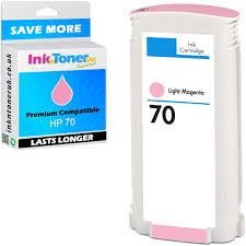 hp 70 light magenta premium compatible hp 70 light magenta ink cartridge c9455a hp