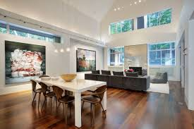 interior house designs with wooden decoration style wonderful white dining room table and wood side chari for large open plan and modern interior