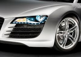 audi headlights in dark audi light and design car body design
