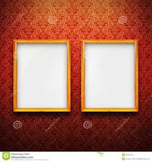 frames with red vintage wallpaper stock photos image 28492103