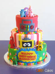 yo gabba gabba birthday cake3d cards 377 best cake ideas images on petit fours my