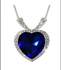 heart necklace from titanic images Peora silver plated sapphire blue titanic heart of the ocean png