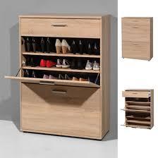 Shoe Cabinet Big Foot Wooden Shoe Storage Cupboard In Oak 18781