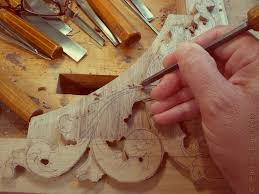 woodcarving and ornaments in wood for interiors and furniture