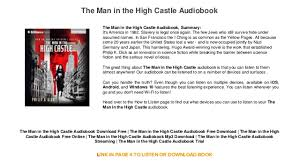 the in the high castle audiobook mp3 free audiobook mp