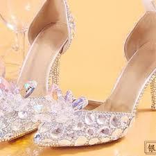 Wedding Shoes Luxury Women Shoes Luxury Crystal Diamond Wedding Shoes Waterproof