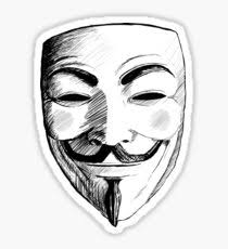 v for vendetta mask anonymous v for vendetta mask drawing stickers redbubble