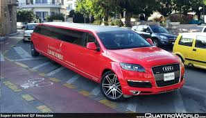 Audi R8 Limo - super stretched q7 limousine spotted in greece quattroworld