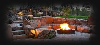 Firepit In Backyard Header Firepit Backyard Spokane Coeur D Alene Pit Design