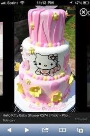 hello kitty baby shower cake baby baby shower pinterest