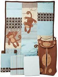 Blue And Brown Crib Bedding by Amazon Com Lambs U0026 Ivy Giggles 5 Piece Crib Bedding Set Lambs