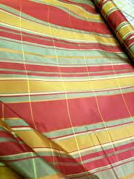 Striped Home Decor Fabric Woven Stripe Fabric Serape Style Fabric Rust Red And Green