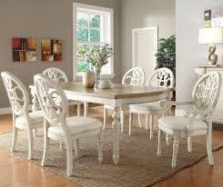 rebecca countryantique white oak 7 piece dining table