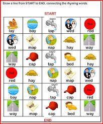 kindergarten rhyming words kristal project edu hash
