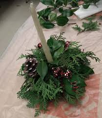 scented leaf christmas centerpiece decorations